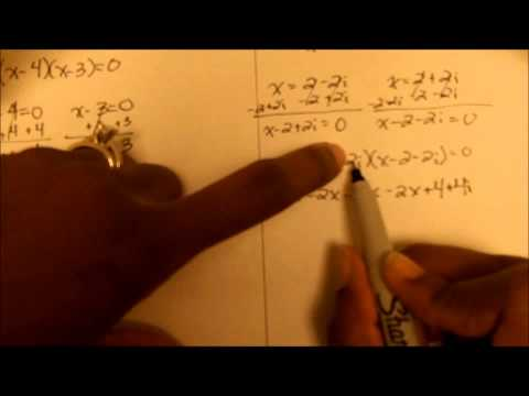 Finding the Quadratic Equation Given Complex Roots