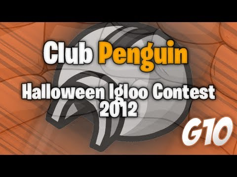 Club Penguin - Halloween Igloo Contest 2012