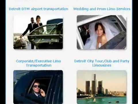 Detroit Hire Luxury Limousine Transportation Services DTW Metro Airport Limo