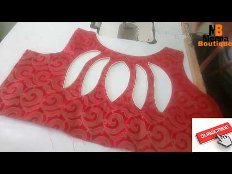 CREATIVE AND BLOUSE BACK NECK DESIGNS  // BOAT NECK BLOUSE  VERY EASY METHOD