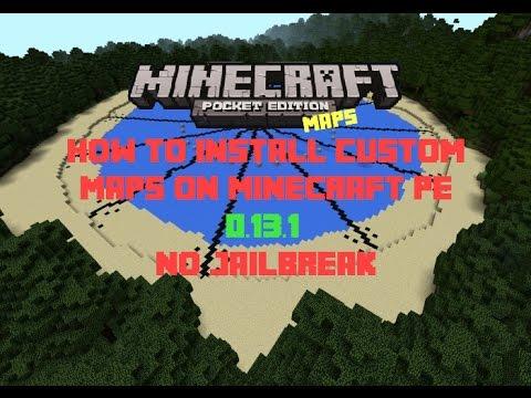 Minecraft PE 1.1.0 | How To Install Custom Maps No Jailbreak Or Computer