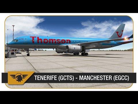 [X-Plane 10] Thomson Airways | FlightFactor 757 | Tenerife South (GCTS) - Manchester (EGCC) | TOM6FP