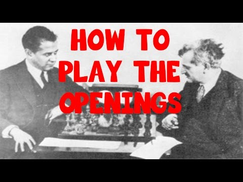 HOW TO PLAY THE OPENINGS without chess theory