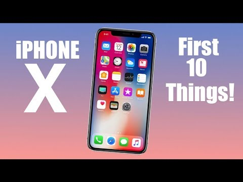 iPhone X // iPhone 10 : First 10 Things To Do!