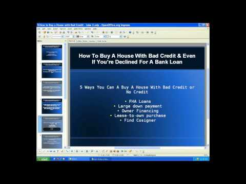 How To Buy A House With Bad Credit & Even If You're Declined For A Bank Loan