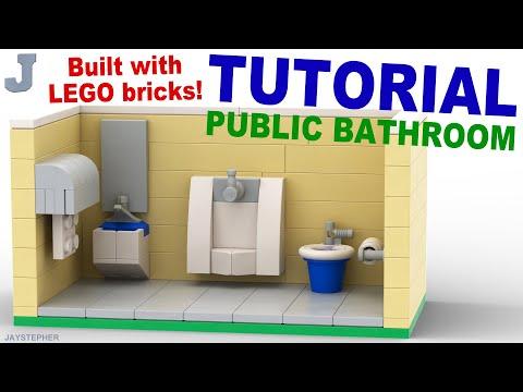 How to Build a LEGO Public Bathroom TUTORIAL Building Technique