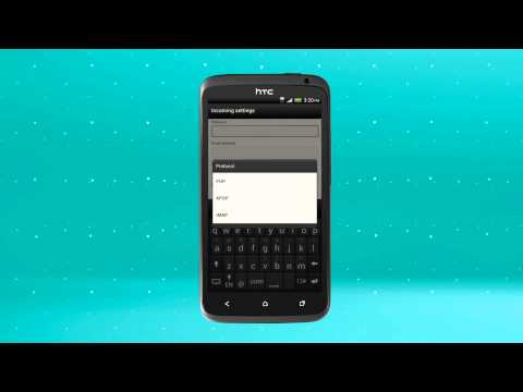 EE - HTC XL: How to set up email