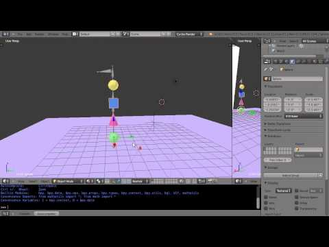 Blender  Tutorial - Attaching Multiple Objects to an Armature Animation