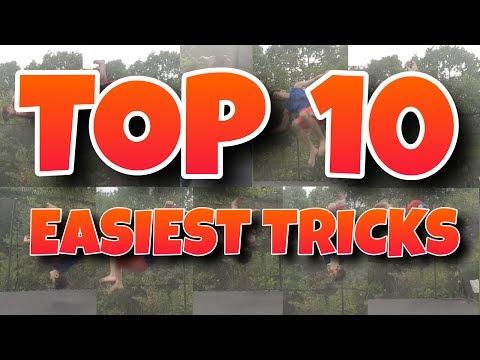 TOP 10 EASIEST TRAMPOLINE TRICKS (For Beginners)