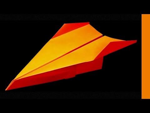Comment faire un origami Avion en papier qui VOLE très bien et longtemps et loin . Tresh