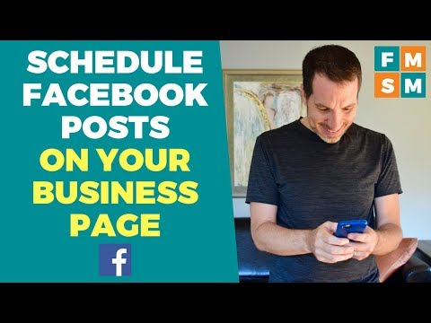 Schedule Facebook Posts On Business Page