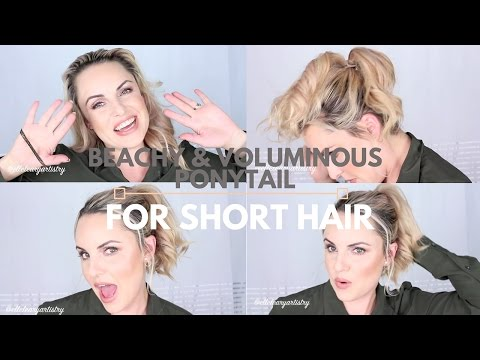 Quick Voluminous Ponytail for Short Hair - Elle Leary Artistry