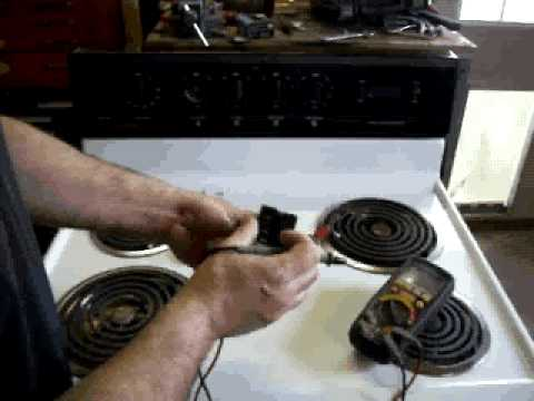 Testing a oven or cooktop switch
