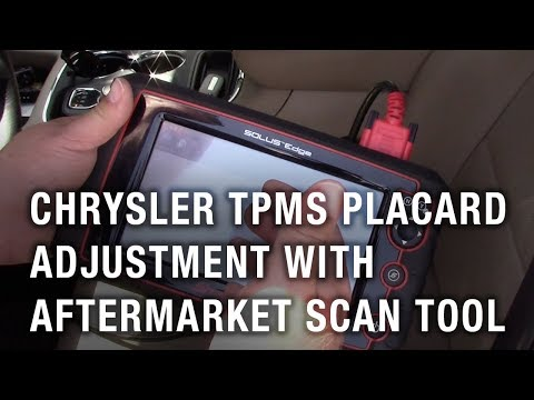Chrysler TPMS Placard Adjustment With Aftermarket Scan Tool
