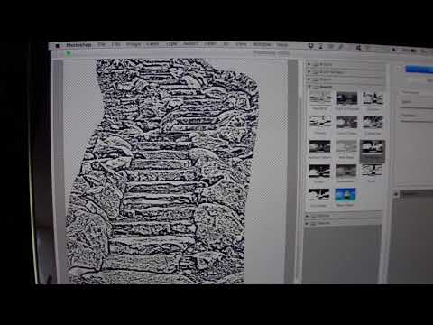 HOW TO Outline for STENCIL in PHOTOSHOP !