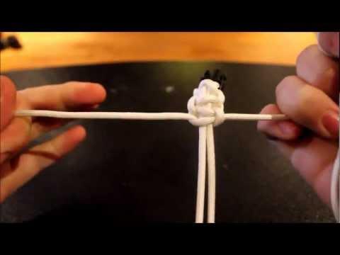 Easy Cobra knot paracord bracelet instructional video.