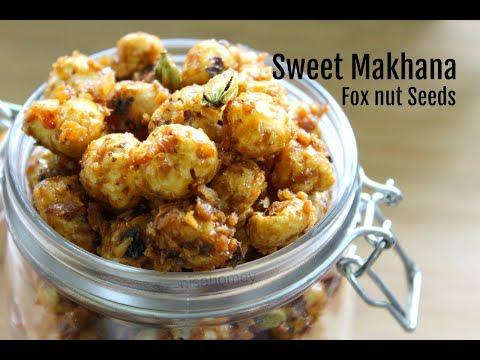 Sweet Makhana Recipe - Easy & Healthy Snacks For Kids -  After School Snack Ideas For Kids