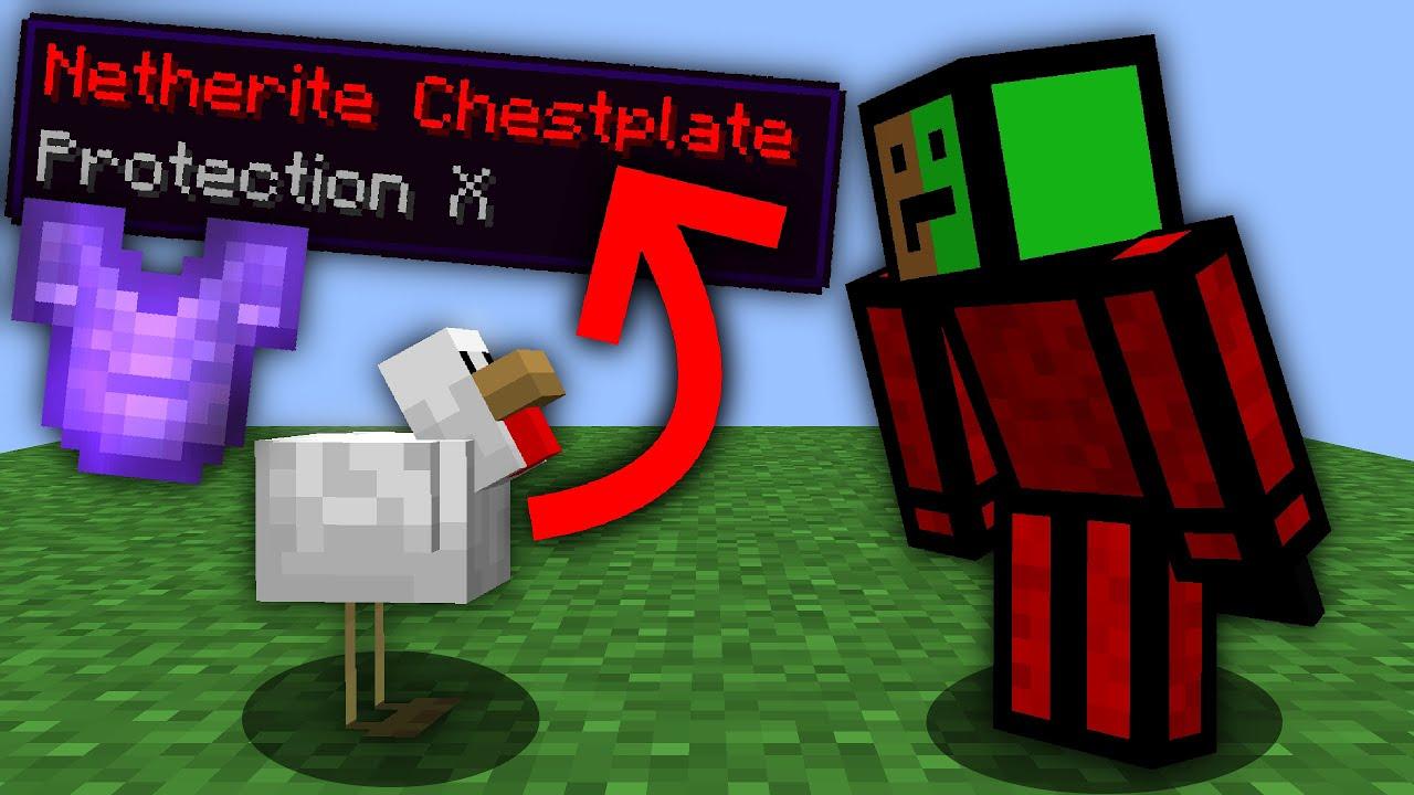 Minecraft, But Eggs Drop OP Items...