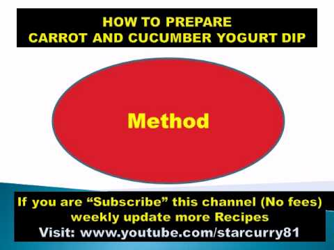 HOW TO PREPARE CARROT AND CUCUMBER YOGURT DIP- ENERGY FOOD,FUNNY HOT RECIPES