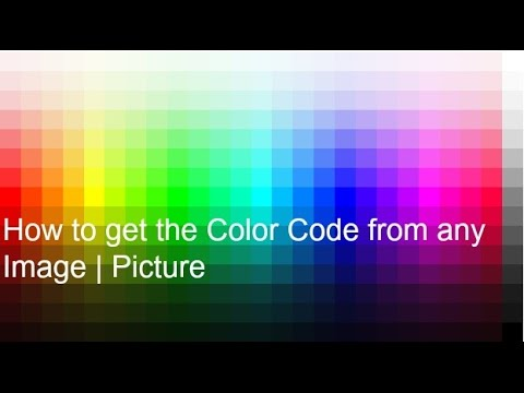 How to get the Color Code from any Image   Picture