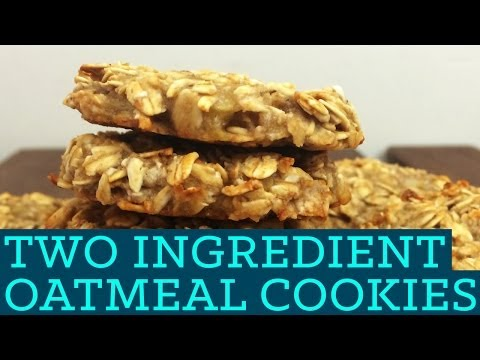 Healthy Oatmeal Cookies! 2 Ingredients! - Mind Over Munch Two Ingredient Takeover S01E02