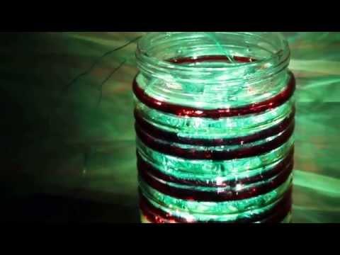 FIREFLIES green mason jar