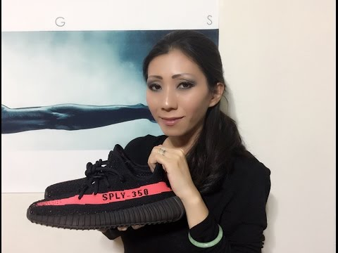 Wife's Adidas Yeezy 350 Boost V2 Red unbox and on feet review