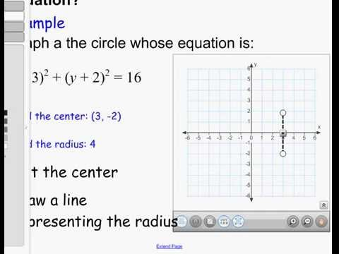 Finding the center and radius of a circle given it's equation