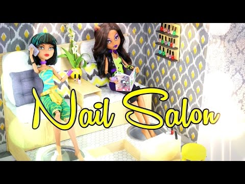 DIY - How to Make: Doll Nail Salon: Foot Spa - Handmade - Doll - Crafts
