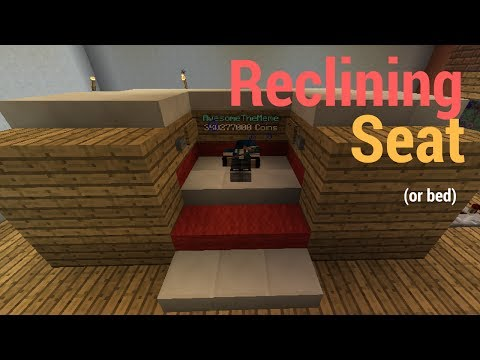 How to make a Reclining Seat//Minecraft