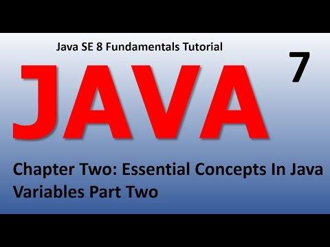 Java Introduction - Essential Concepts Variables Epi 7