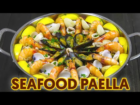 Seafood Paella  | Pinoy Paella | Paella with Shrimp Clams and Mussels