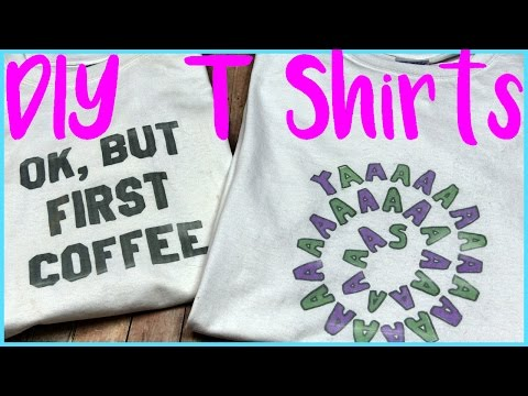 DIY Crafts: DIY Graphic T Shirts - No Transfer Paper {Simple Craft Idea}