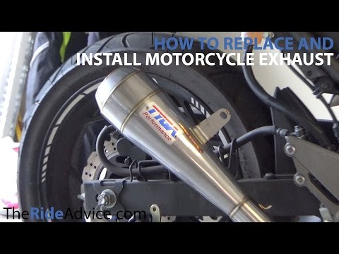 How To Install Motorcycle Exhaust - Remove Old Motorcycle Exhaust and Install New Motorcycle Exhaust