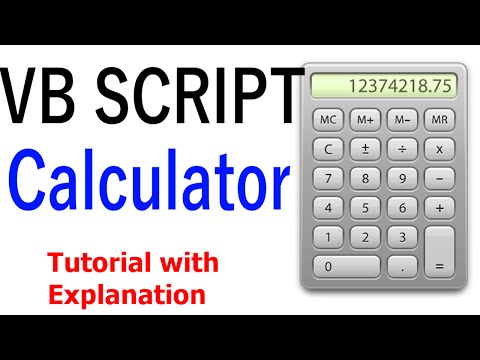 VBscript - Creating a Calculator [Tutorial with Explanation]