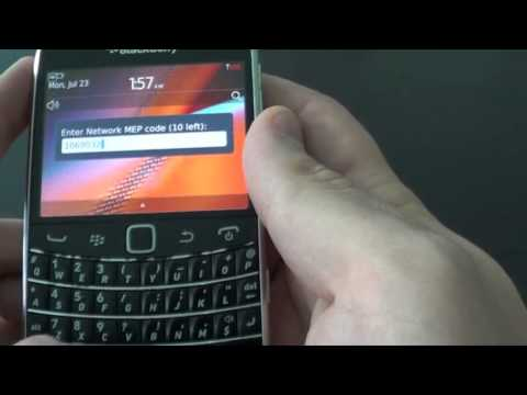 2 ways how to unlock Blackberry Bold 9900 9930 without sim card AT&T Verizon T-mobile Rogers