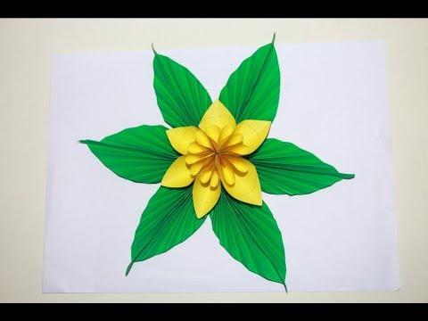 Make Origami Kusudama Flower   Flower origami easy for kids    flower origami easy step by step