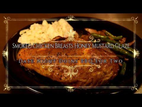 Smoked Chicken Breasts Honey Mustard Glaze