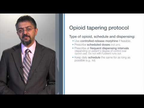 Opioid tapering protocol
