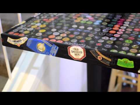 Bottle Cap Bar Table Top Epoxy Resin