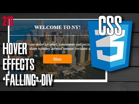 Front End CSS Hover Effects - Falling Div
