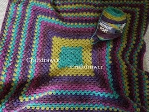 Turning the Corner on a Crochet Granny Square Afghan Pattern