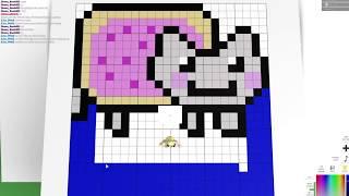 Pixel Art Creator Roblox Pictures How To Make A Pixel Nyan Cat On Pixel Art Creator