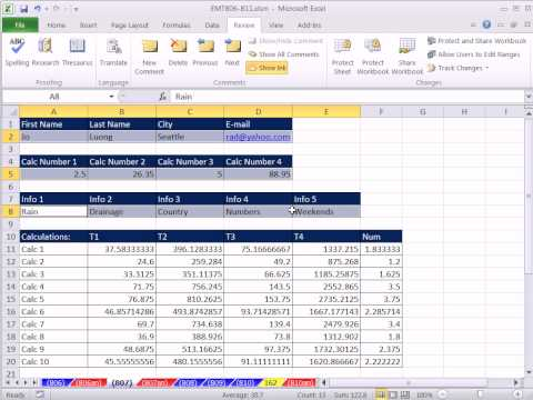 Excel Magic Trick 807:Protect Sheet To Allow Data Enter Only In Cells With Raw Data