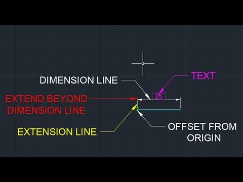 AutoCAD Basics - Edit Dimensions by DesigmoPC