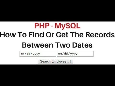 PHP | how to filter the records between two dates MySQL (phpMyAdmin)