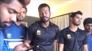 Sri Lankan cricketers Chilling!!!!  Dickwella, Tharanga, Chandimal & many more..
