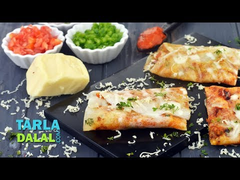 Cheese Burst Dosa, Snack by Tarla Dalal