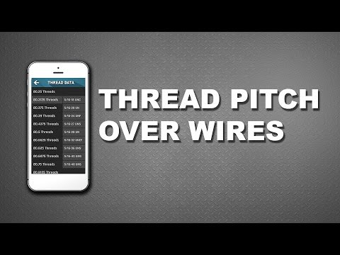 CNC Machinist Calculator - Over wires thread pitch data