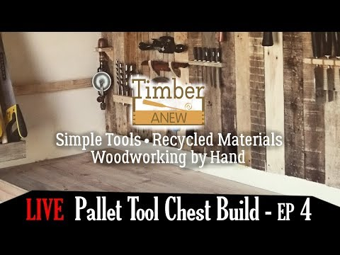 LIVE - Pallet Tool Chest Build - Episode 4 - Fitting the side panels